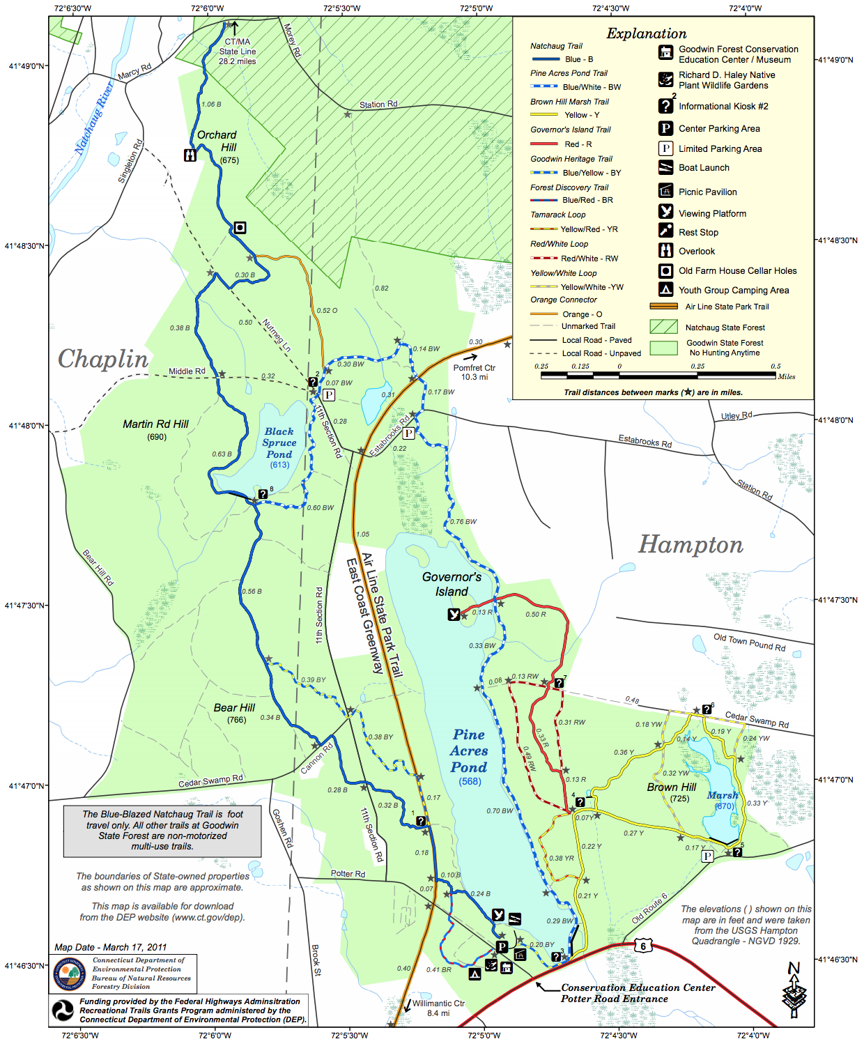 Goodwin State Forest Trail Map