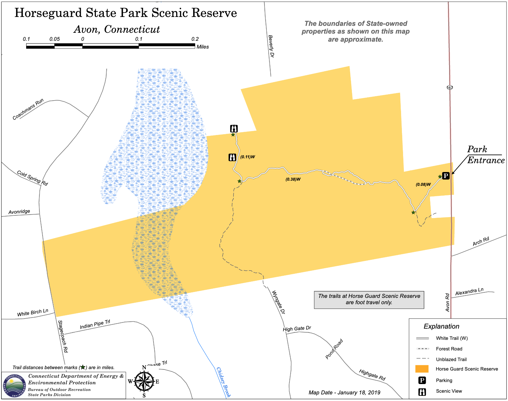 Horse Guard State Park Trail Map
