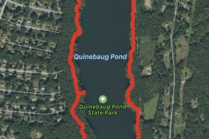Quinebaug Lake State Park Trail Map