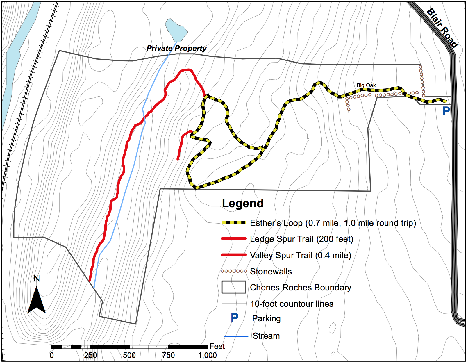 Chenes Roches Trail Map