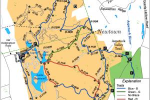 Collis Huntington Trail Map