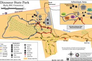 Dinosaur State Park Trail Map
