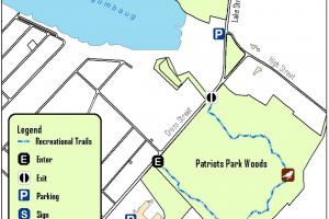 Patriots Park Woods Map