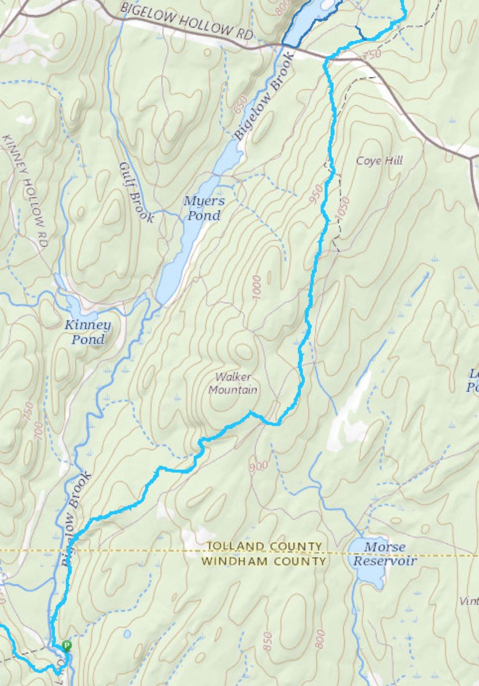 Nipmuck Walker Mountain Trail Map