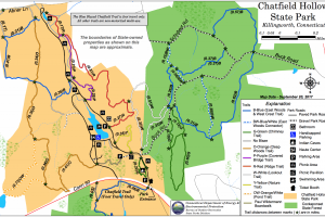 Chatfield Hollow Trail Map