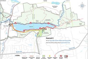 West Hartford Reservoir #6 Trail Map