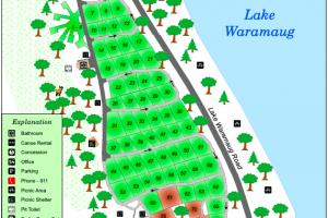 Lake Waramaug Park Map