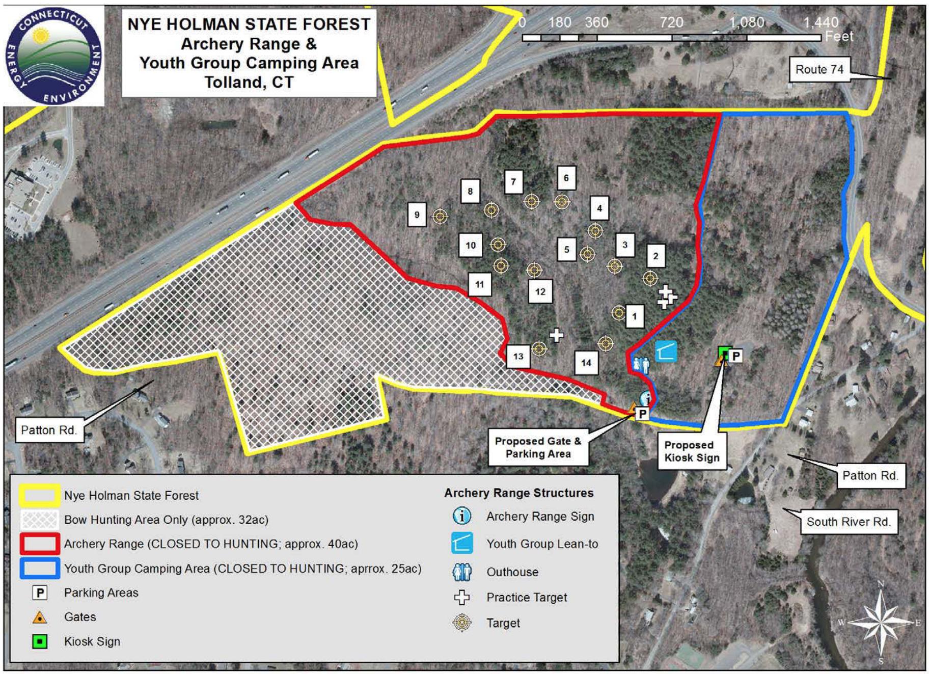 Nye Holman Archery Range Map
