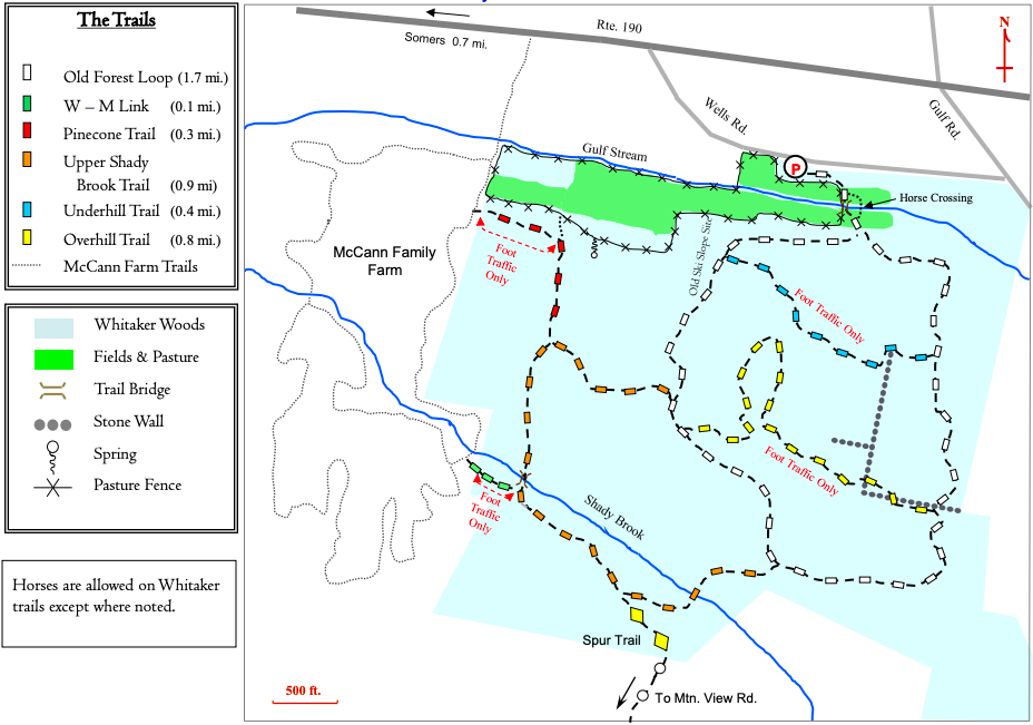 Whitaker Woods Trail Map